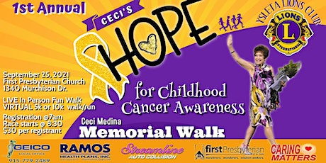Ceci's HOPE For Childhood Cancer Awareness tickets