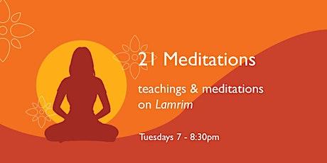 21 Meditations - Meditation on Tranquil Abiding-  Oct 5 Tickets
