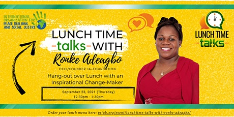 Lunchtime Talks with Ronke Adeagbo tickets