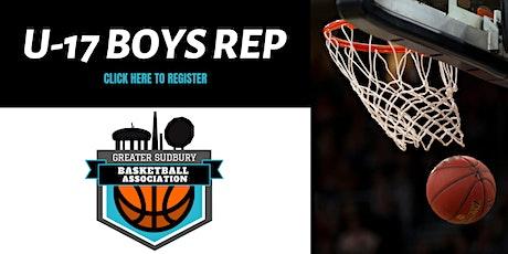 Greater Sudbury Basketball Association U-17 BOYS Tryouts 6:45PM - 7:45PM tickets
