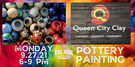 Queen City Clay Presents Pottery Painting @ Big Ash Brewing tickets
