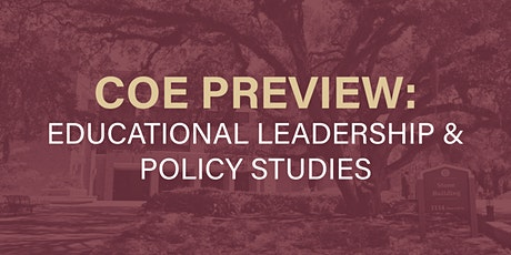 COE Preview 2021: Educational Leadership & Policy Studies tickets