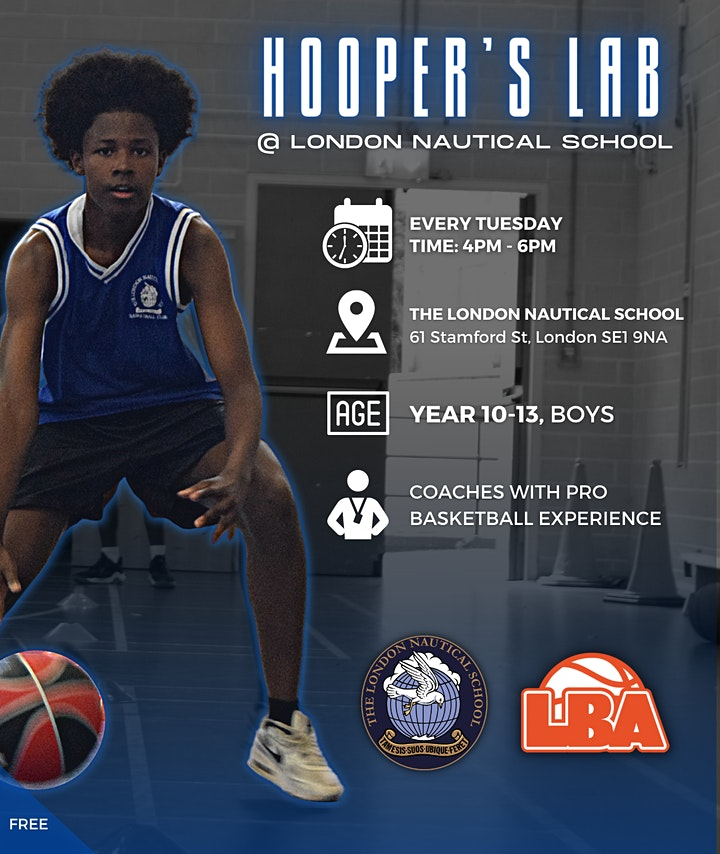 Hooper's Lab   @ London Nautical School   Weekly Basketball image