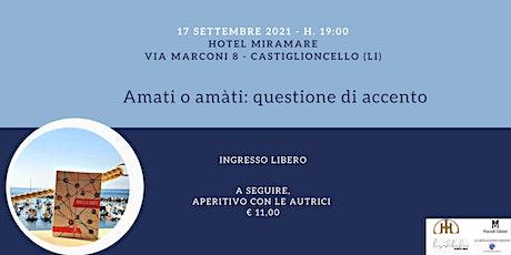 Libro Amati - presentazione biglietti
