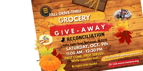FREE  DRIVE THRU  GROCERY GIVEAWAY tickets