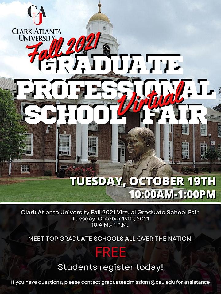 Clark Atlanta University Fall 2021 Virtual Graduate Professional Fair image