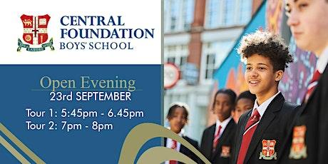 Open Evening at Central Foundation Boys' School - 23rd September 2021 tickets