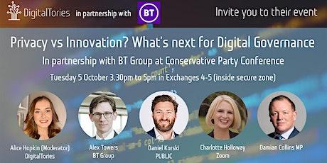 Privacy Vs Innovation: What's next for digital governance? tickets