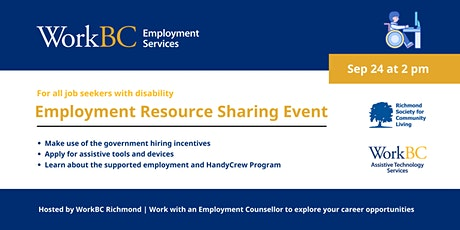 Employment Resource Sharing for Job Seekers with Disabilities tickets