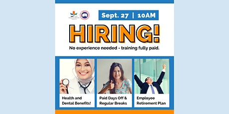 Health Benefits, Paid Days Off, No Experience Needed! Virtual Hiring Event tickets