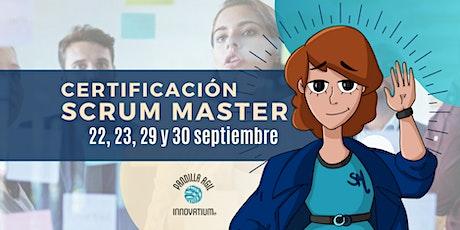 Certificación Scrum Master tickets