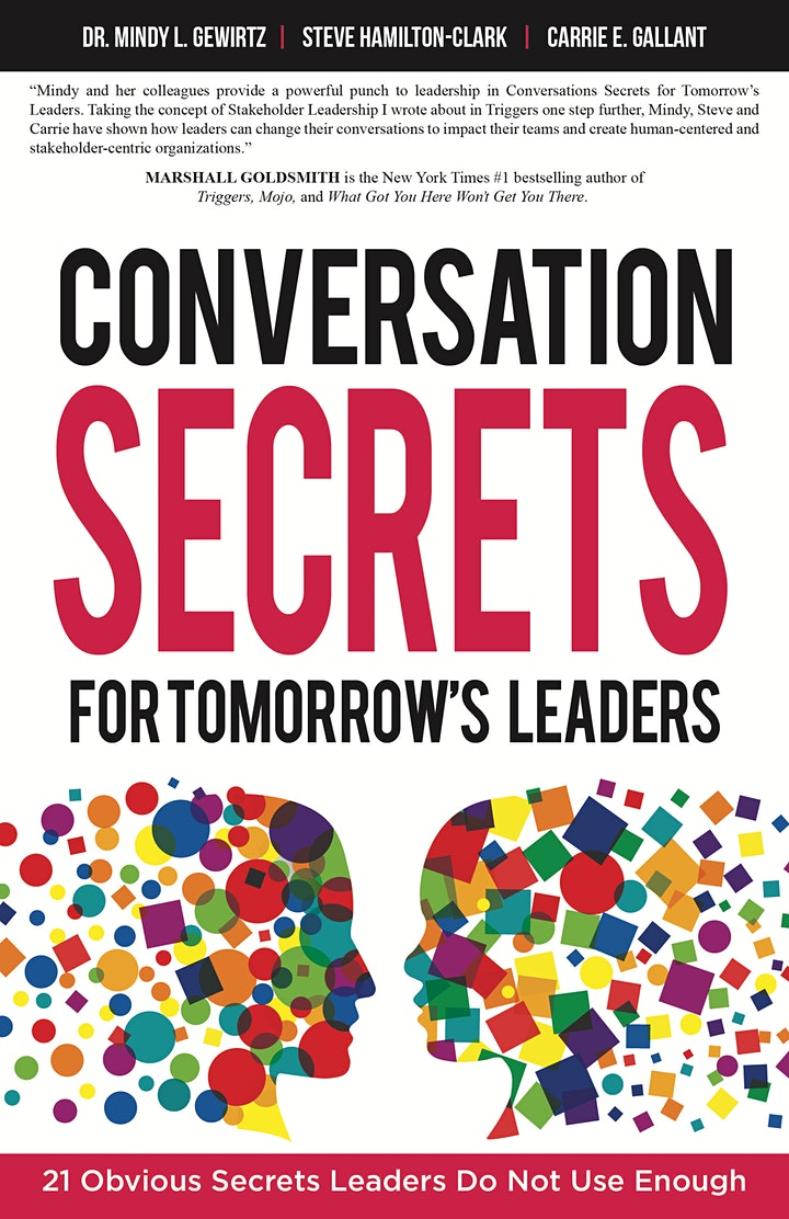 """Book Launch Party: """"Conversation Secrets for Tomorrow's Leaders"""" image"""