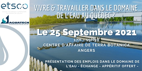 Vivre et travailler dans le domaine de l'eau au Québec billets