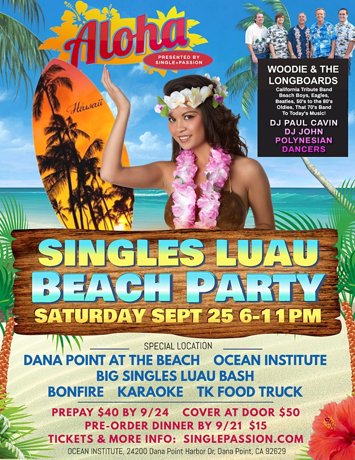 Big Hawaiian Singles Beach Party image