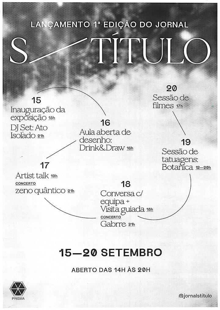 S/ TÍTULO Nº1 - LANÇAMENTO + EXPOSIÇÃO: Bild