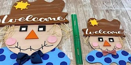 Scarecrow Take home DIY  door hanger tickets
