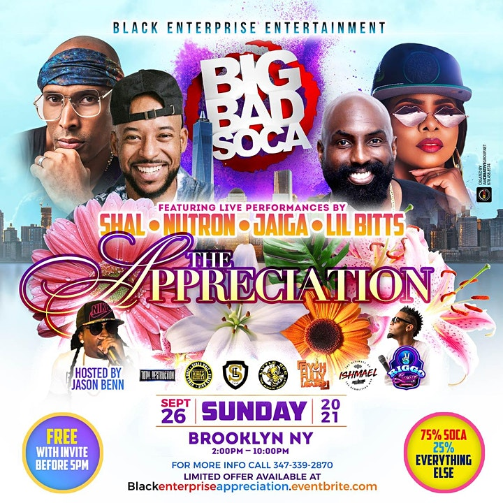 BIG BAD SOCA  APPRECIATION EVENT image