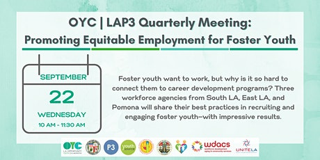 OYC | LAP3 Quarterly: Promoting Equitable Employment for Foster Youth tickets
