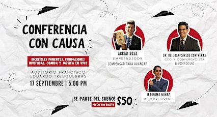 CONFERENCIA CON CAUSA boletos
