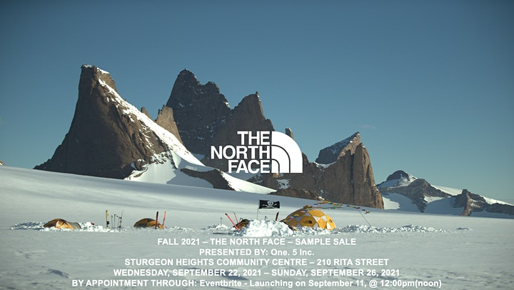 THE NORTH FACE - FALL 2021 SAMPLE SALE - Presented by: One. 5 Inc. image
