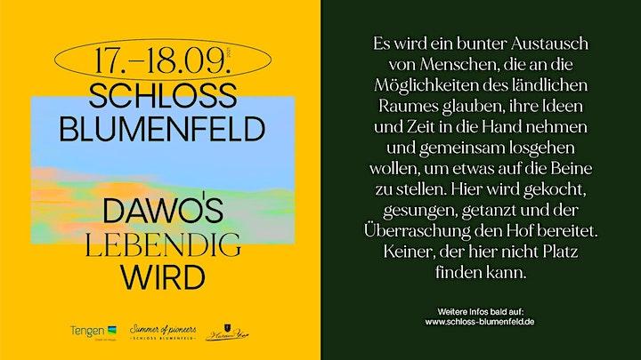 DAWO'S LEBENDIG WIRD - Schloss Blumenfeld | Tengen: Bild