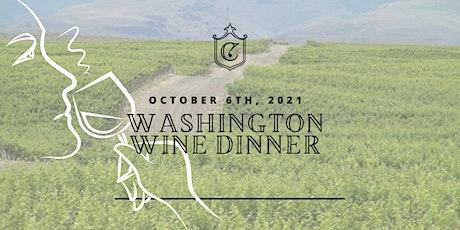 Washington State Wine Dinner tickets