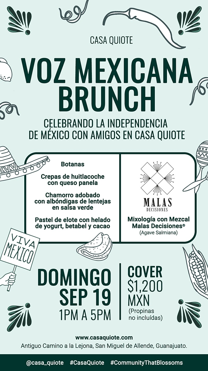 Imagen de Independence Brunch Celebrating Mexico's independence with friends in Casa