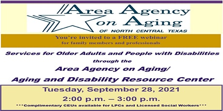 Services for Older Adults and People with Disabilities through AAA & ADRC tickets