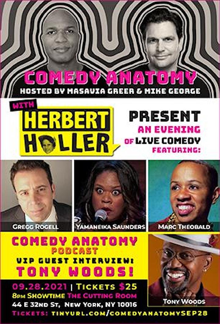 Comedy Anatomy & Herbert Holler Present: Comedy w/ a DJ | The Cutting Room image