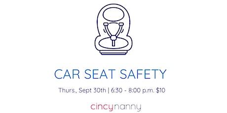 Car Seat Safety | CincyNanny Training tickets