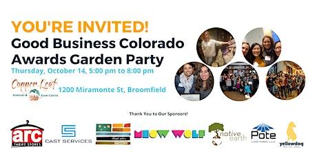 Good Business Colorado Awards Garden Party tickets