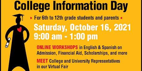 44th Annual College Information Day/Día de información universitaria tickets