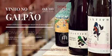 Degustação de Vinhos no Galpão da La Vinheria tickets