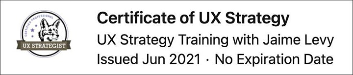 UX Strategy Workshop with Jaime Levy in Malmo image