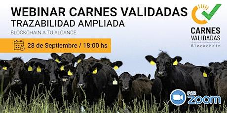 Webinar Plataforma Carnes Validadas Septiembre 2021 entradas