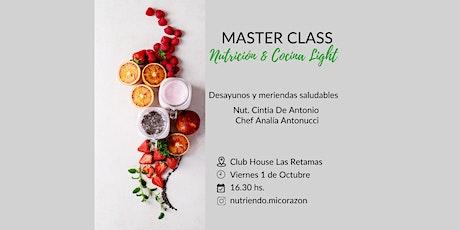 """MASTER CLASS """"Nutrición & Cocina light"""" entradas"""