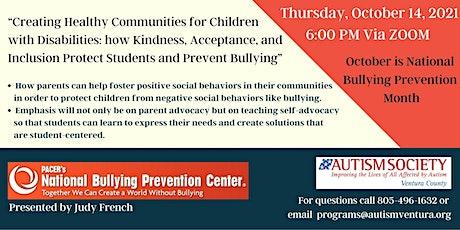 Bullying Prevention Presentation tickets