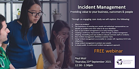INCIDENT MANAGEMENT: providing value to your business, customers and people biljetter