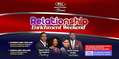 Relationship Enrichment Weekend tickets