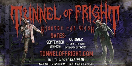 Tunnel of Fright - Haunted Car Wash (October 29th, 2021) tickets