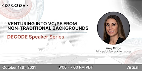 Venturing into VC/PE from non traditional backgrounds Tickets