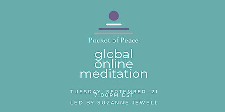 """Global Online """"Pocket Of Peace"""" Meditation for International Day of Peace Tickets"""