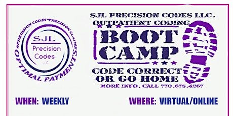 OUTPATIENT MEDICAL CODING BOOTCAMP   INTERNSHIP -STOP FAILING YOUR EXAM!! tickets