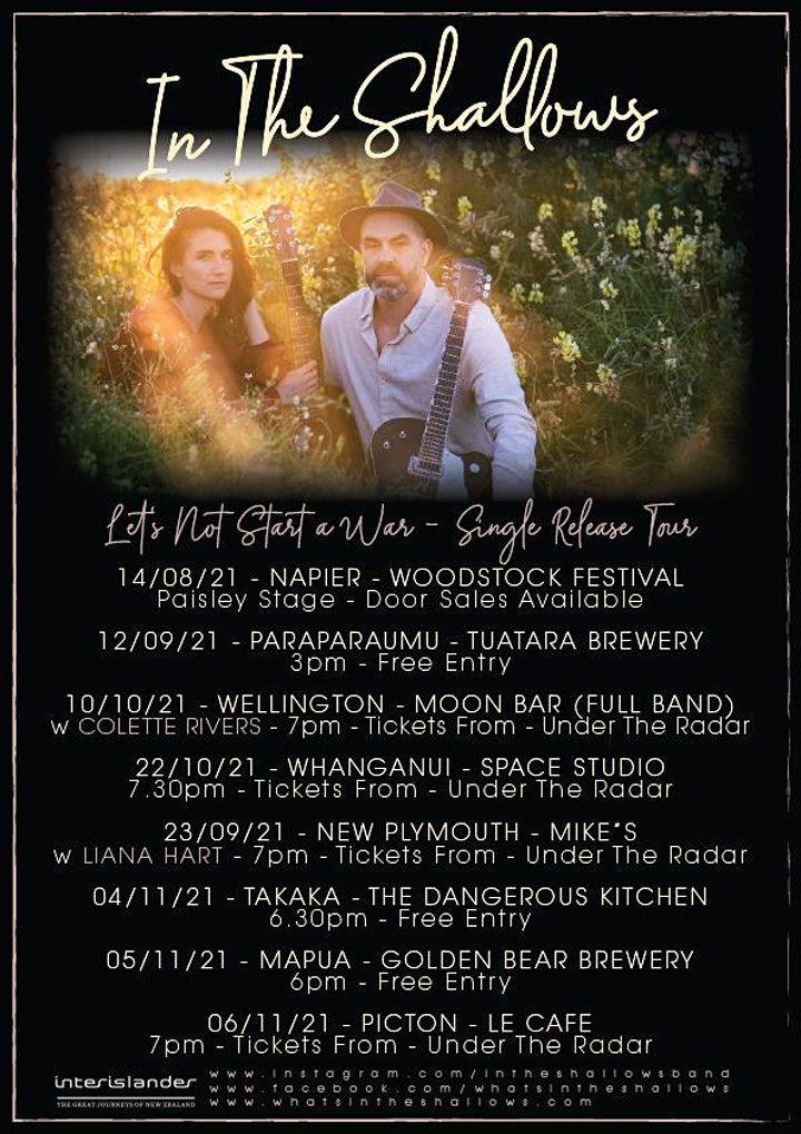 In The Shallows Single Release Tour {Whanganui} image