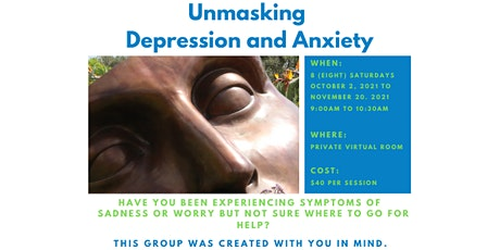 Unmasking Depression and Anxiety tickets