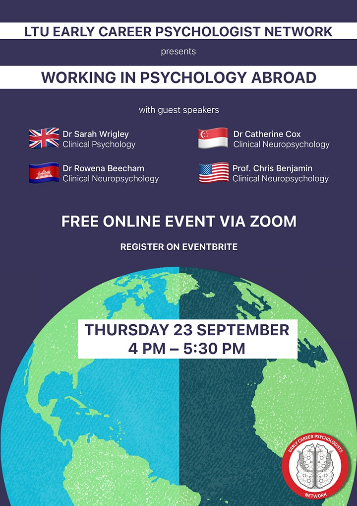 ECP Network Presents: Working in Psychology Abroad image