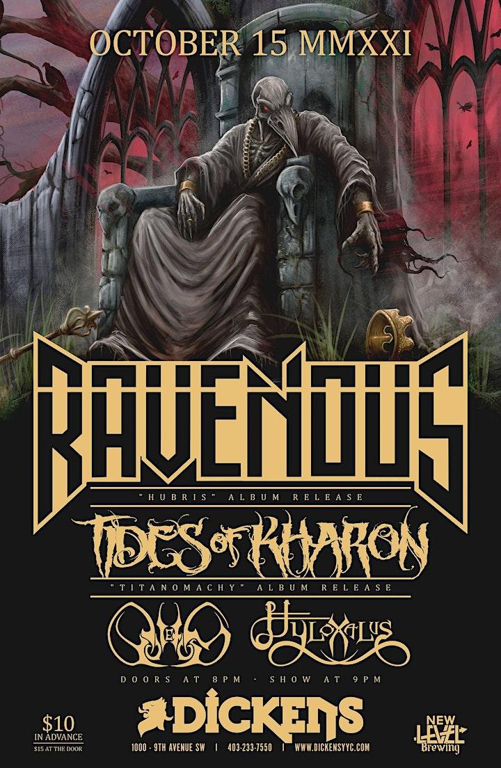 """Ravenous & Tides Of Kharon """"Double Album Release Party"""" image"""