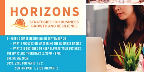 Horizons: Strategies for Business Growth and Resilience (Pt. 1) tickets