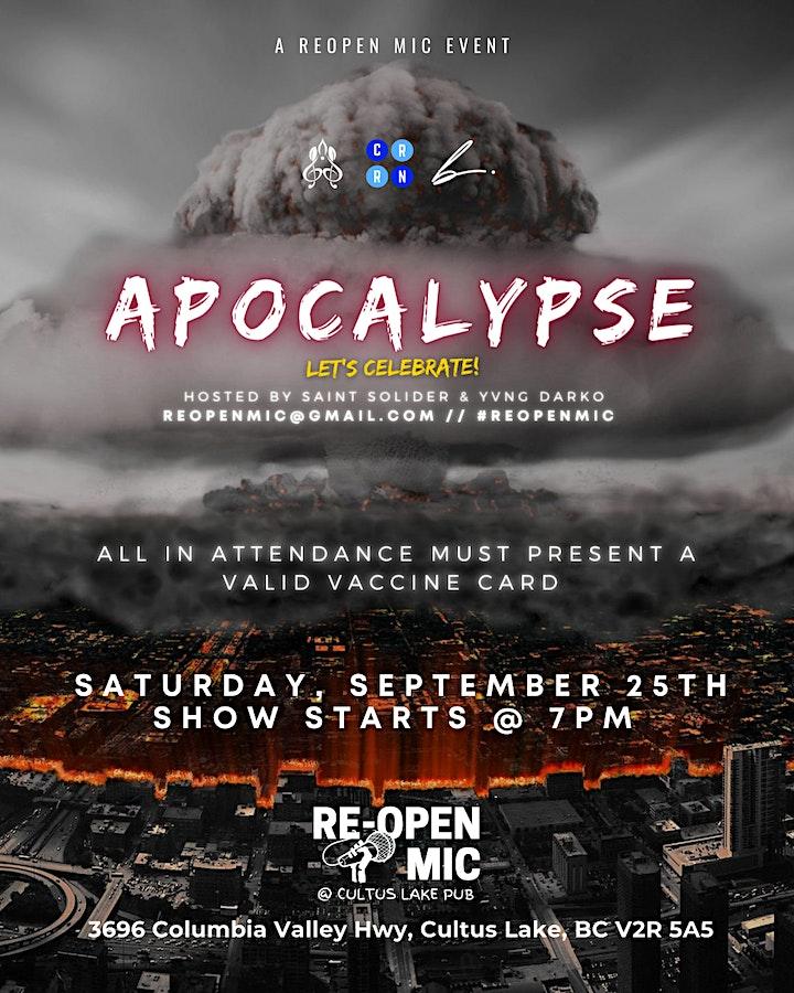 Re-Open Mic September 2021: Apocalypse image