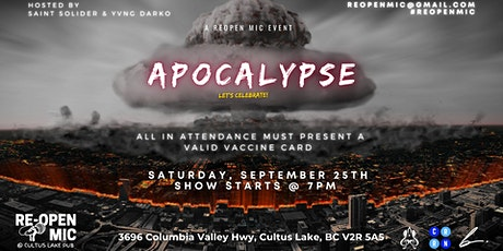 Re-Open Mic September 2021: Apocalypse tickets